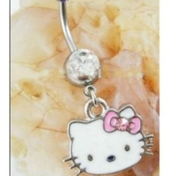 Hello Kitty Belly Button Navel Ring Kitty Pink Bow Boutique